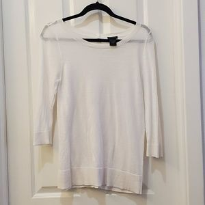 Ann Taylor White Pullover Sweater